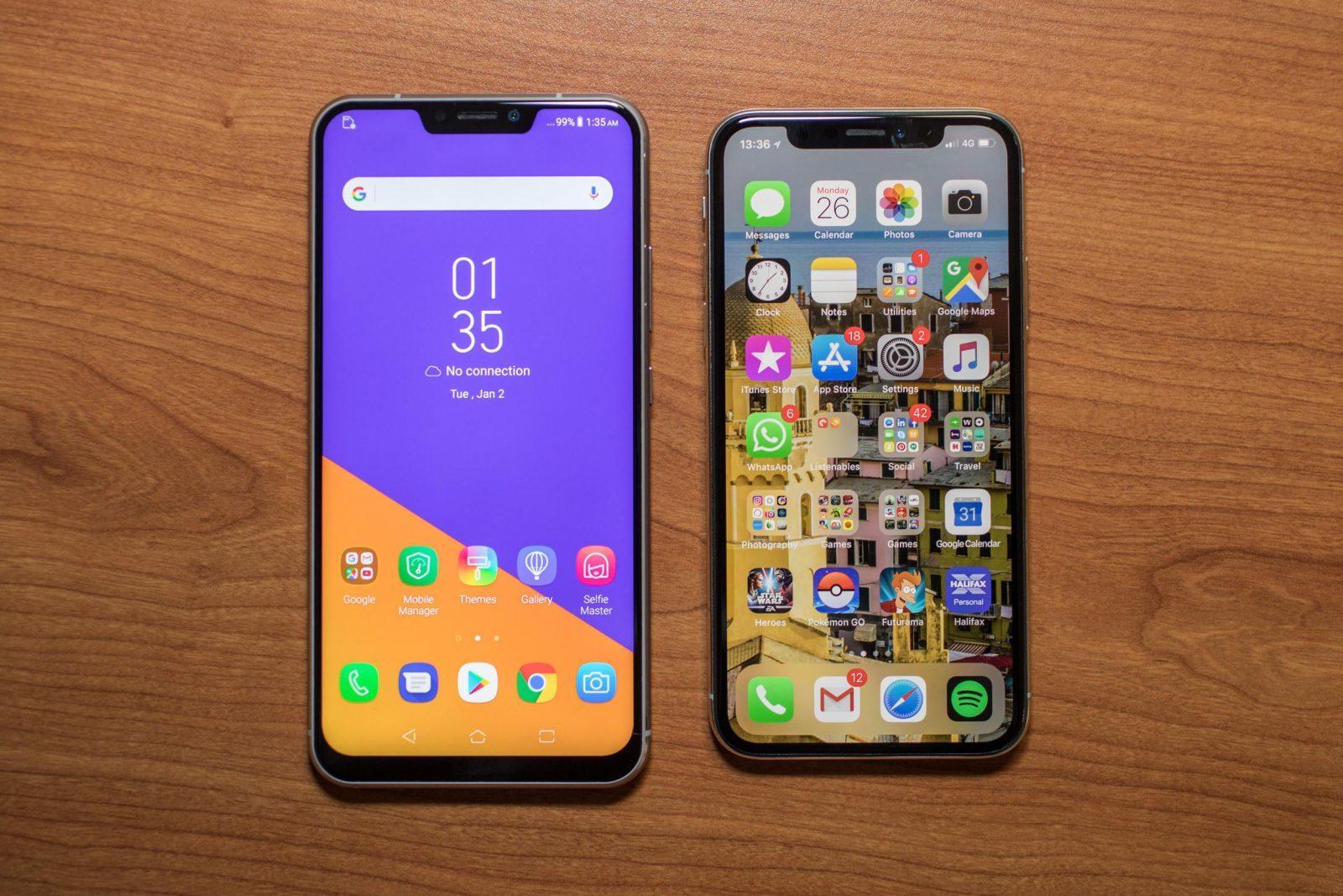 В сравнении с iPhone X