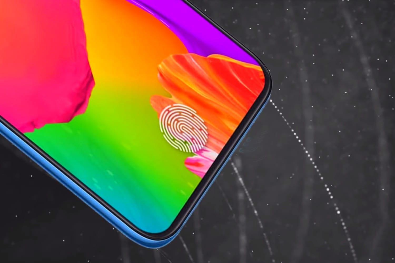 Сканер отпечатков пальцев встроен в экран