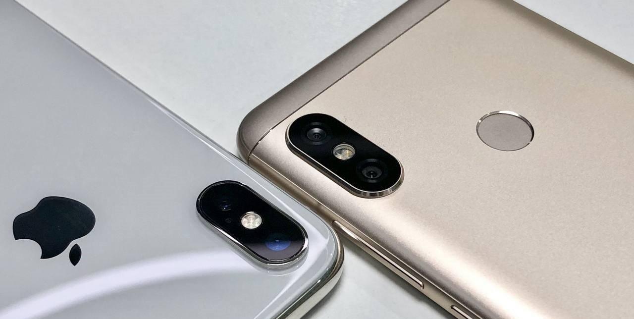 Задняя часть в сравнении с Айфоном