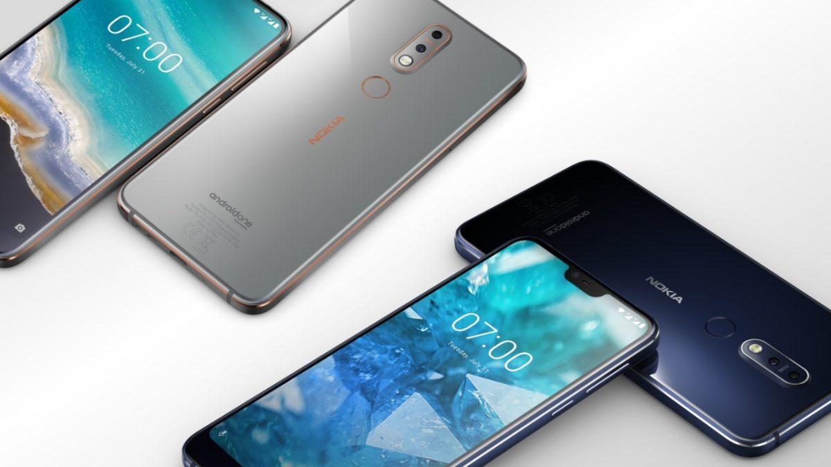 Смартфон в двух цветах: синий и металлический