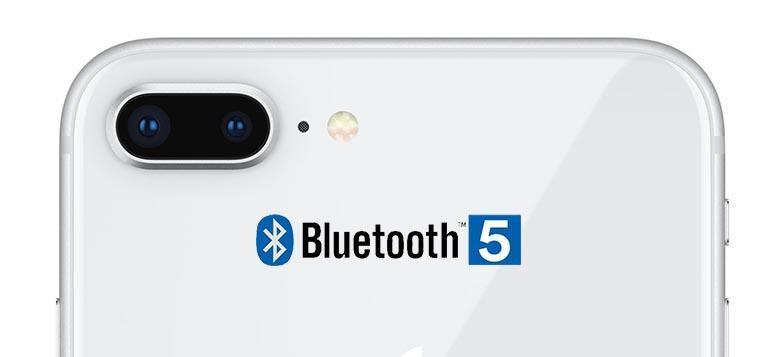 iPhone 8  имеет поддержку блютуза пятого поколения