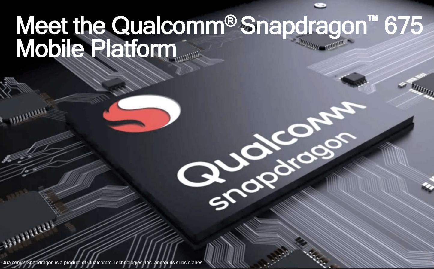 Установлен современный чип Snapdragon 675